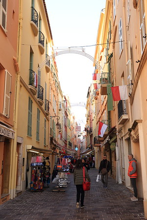 On a street in Old Town - Monte Carlo, Monaco