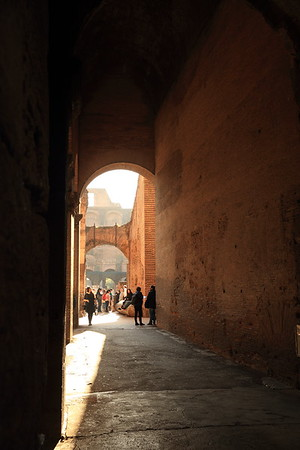 Passageway into the Roman Colosseum