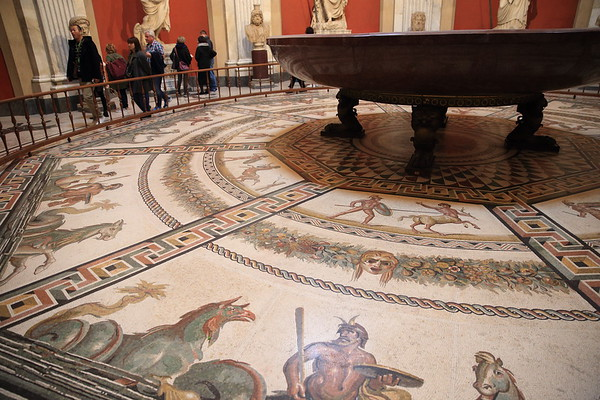 Mosaic floor on display at the Vatican Museum