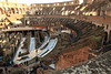 An elaborate series of passageways and elevators were used to move participants up to the arena at the Colosseum in Rome