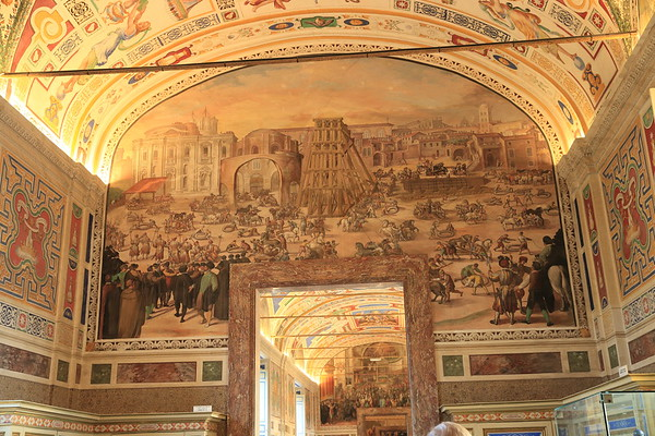 Fresco in the Vatican showing construction of the new St. Peter's Basilica