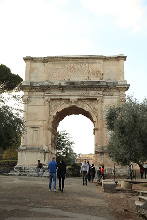 Arch of Titus on the Via Sacra - Rome, Italy - AD 82