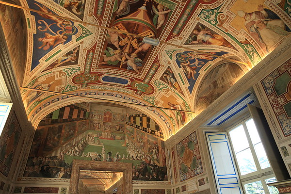 The buildings of the Vatican are works of art.