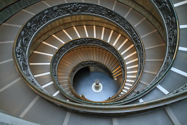 The original entry to the Vatican with its double spiral ramp.