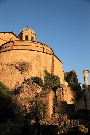 Christian church on the site of a former pagan temple near the Roman Forum