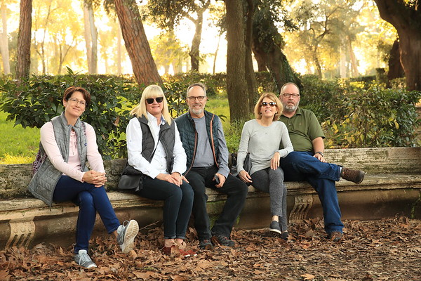 Quality human beings out for a walk in Villa Borghese Park in Rome, Italy