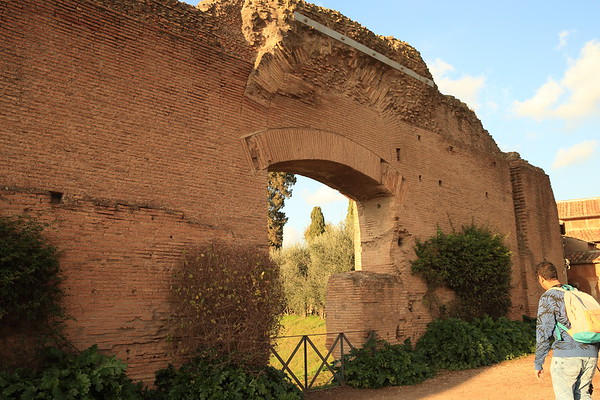 Palace wall on The Palatine Hill - Rome, Italy