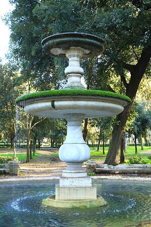 Fountain in Villa Borghese Park - Rome