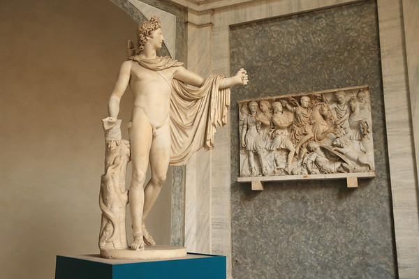 Sculpture of Apollo thought to be a copy (120 AD) of a bronze from 350 BC - Vatican