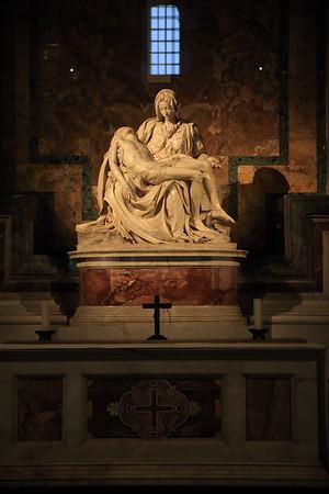 Michaelangelo's Pietà - AD 1499 - Inside St. Peter's Basilica