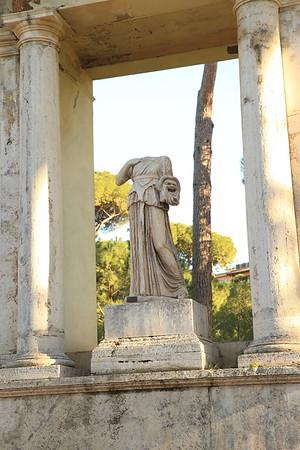Creepy headless statue in Villa Borghose - Rome, Italy