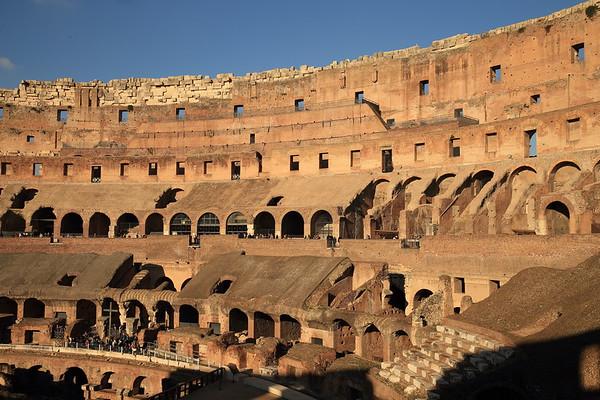 The Roman Colosseum held 50,000 to 80,000 spectators