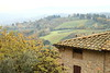 View from above the wall at San Gimignano, Italy