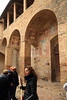 Our guide explaining the difference between 13th and 14th century art.