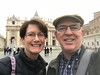 Jill and James in Saint Peter's Square - Vatican City
