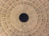Looking up at the dome of the Pantheon built 1800 years ago - Rome, Italy