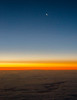 Sunrise from the plane window,  approaching LA on the way back from Maui.