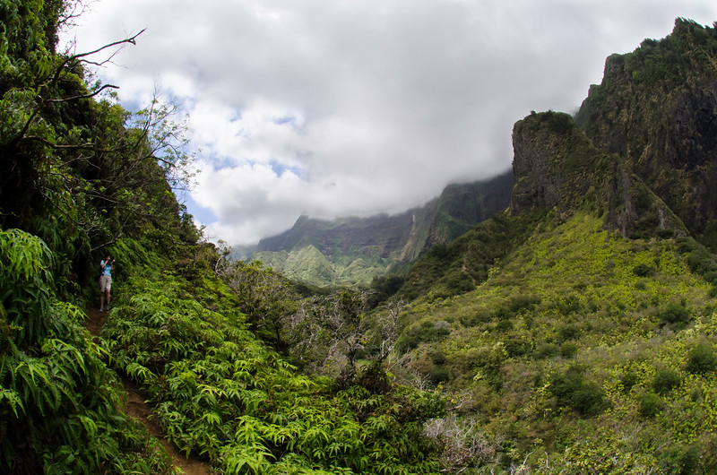 "We followed this well worn trail past the ""Not a Trail"" sign at the IAO Needle and had some great views!"