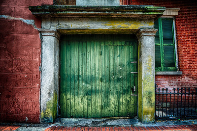 Green Quarter Door