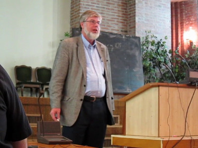 Rich Bledsoe lecturing in Burgas, Bulgaria