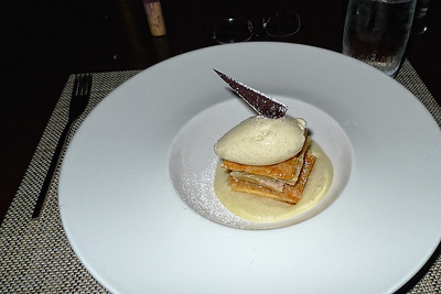 Apfel Strudel (Apple Strudel with Rosemary Infused Apple Sauce) at the Seasonal