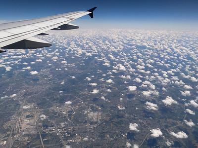 35,000 feet over Louisville, Kentucky