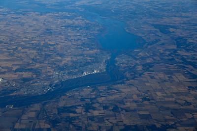 Iowa/Illinois Line on Mississippi River near Camanche, Iowa