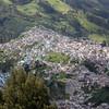 Ecuador, La Sierra, Quito. View to the north and El Tejar from El Panecillo.
