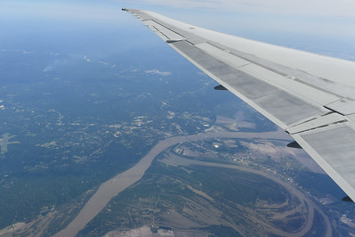 Mississippi River; Airborne - Atlanta to San Antonio