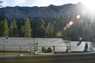 Mount Charleston - Lundy Elementary School Snow Blowers on Roof