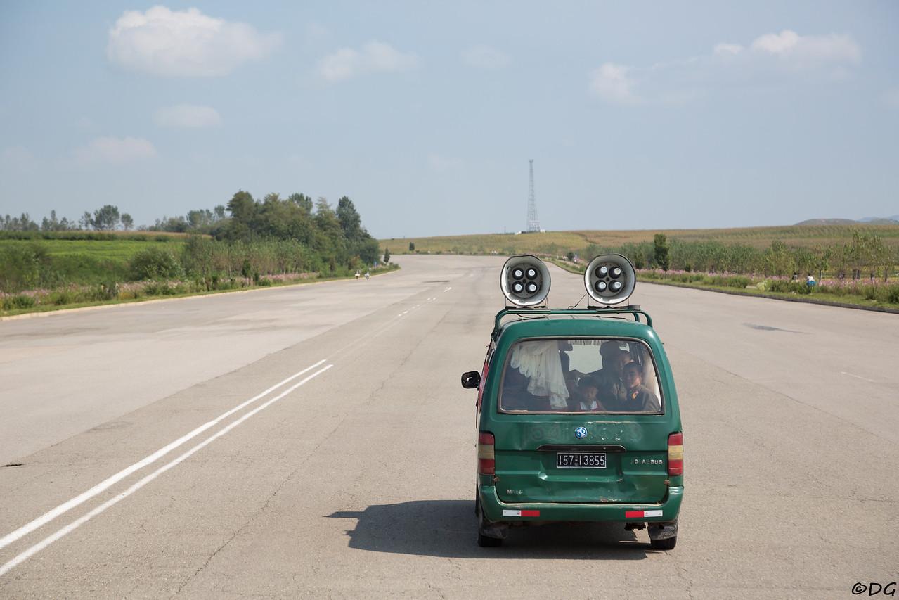 North Korea. Plenty of room on the highway between Nampo and Pyongyang.