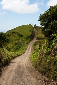 Portugal, Azores, São Miguel, Sete Cidades: Crater rim road.