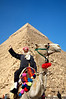 Camel Rider at the Great Pyramid<br /> Giza Plateau<br /> Cairo, Egypt