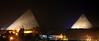 Giza Pyramids at Night<br /> Cairo, Egypt