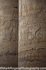 Heiroglyphics on Temple Columns<br /> Temple of Edfu