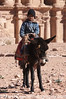 Boy on donkey near Monastery at Petra<br /> Jordan