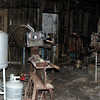 Inside the blacksmith shop.