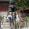 Gely, Arva, David: sight-seeing in the Summer Palace.