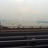 View of the Yangzhe River from the bus.