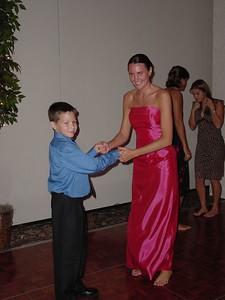 Hayden dancing with bridesmaid