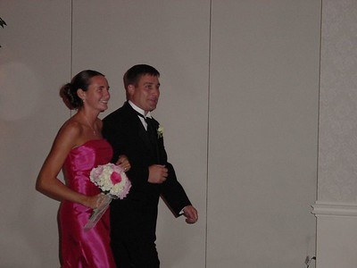 Danny escorting bridesmaid