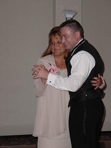 Chris dancing with his mother
