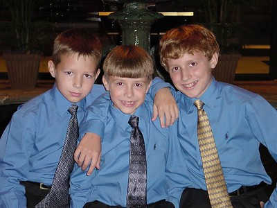 Hayden, Connor & Harrison - Don't they clean up nicely?