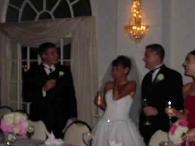 Danny toasting Bride & Groom