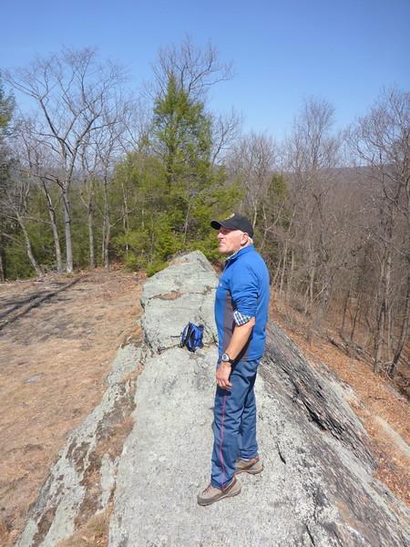 Egbert on the Lenape Ridge Trail - 4/13/15