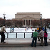 Skating rink in front of the National Archives.