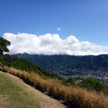 View of Honolulu (Manoa Valley) from Round Top Road on Mount Tantalus.