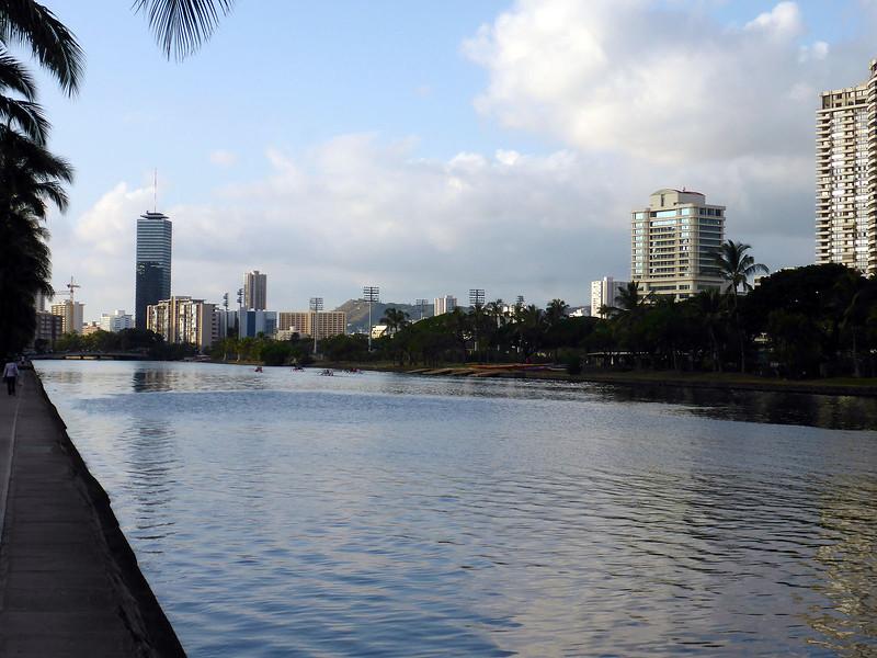 Ala Wai Canal in Honolulu.