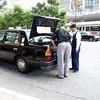 Taxicab in downtown Tachikawa.