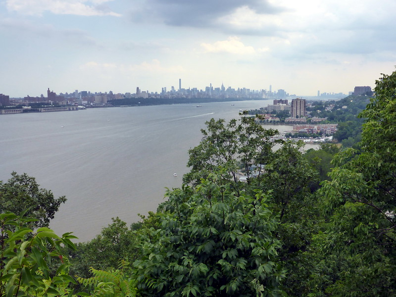 View of Manhattan and Edgewater from Fort Lee Historical Park.